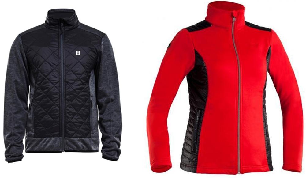 На фото – мужская и женская куртки-толстовки шведского бренда Altitude