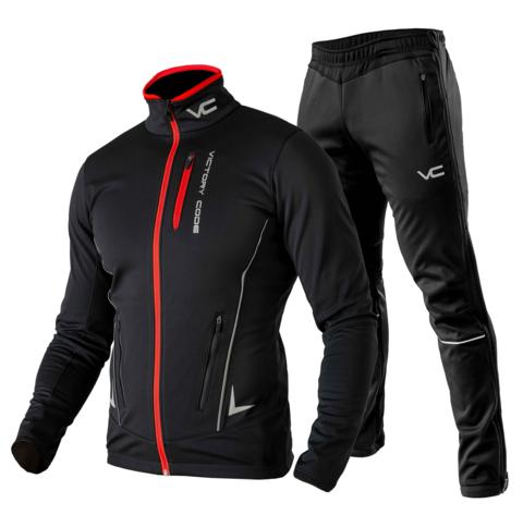 Victory Code Speed Up разминочный лыжный костюм черный