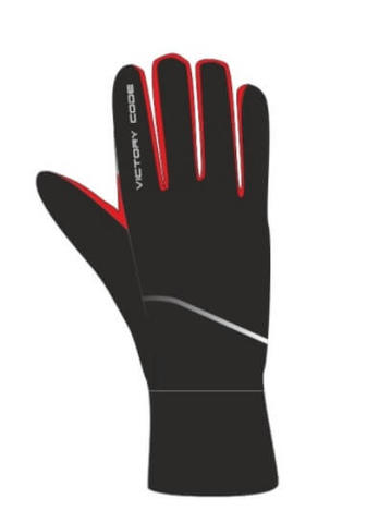 Victory Code A3 перчатки лыжные black-red