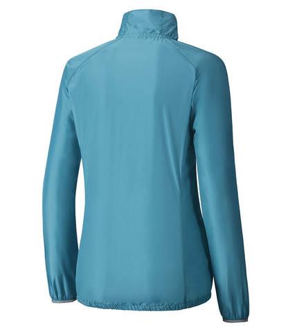 Куртка для бега женская Mizuno Impulse Impermalite синяя