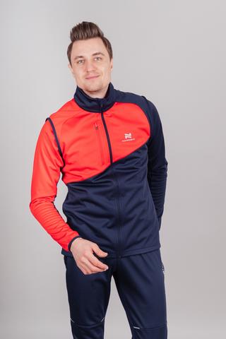 Nordski Premium лыжная куртка мужская blueberry-red