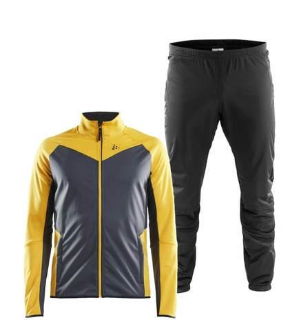 Craft Glide Storm лыжный костюм мужской grey-orange