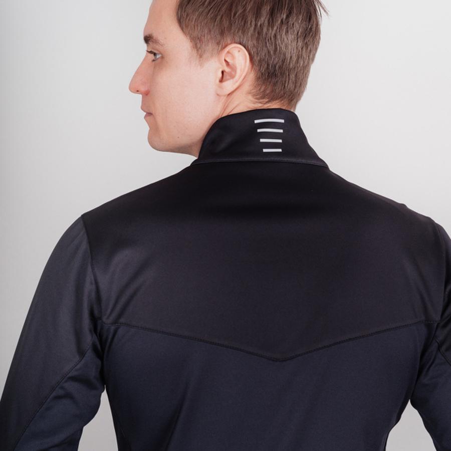 Nordski Base тренировочная куртка мужская black-blue - 4