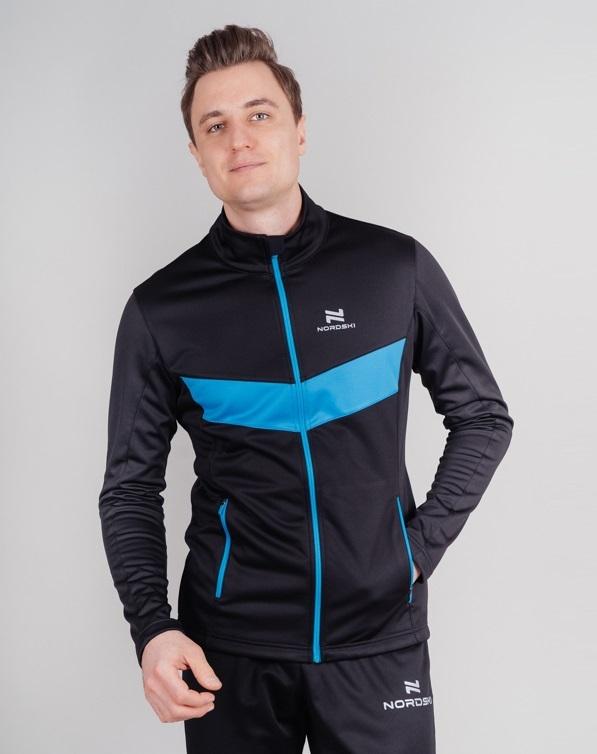 Nordski Base тренировочная куртка мужская black-blue