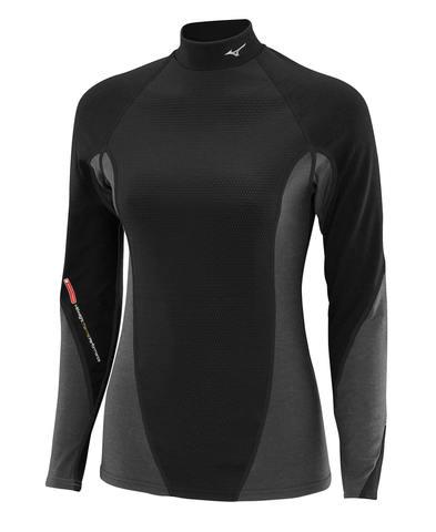 Mizuno Virtual Body High Neck термобелье рубашка женская черная-серая