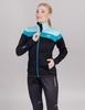 Nordski Drive лыжная куртка женская black-mint - 1