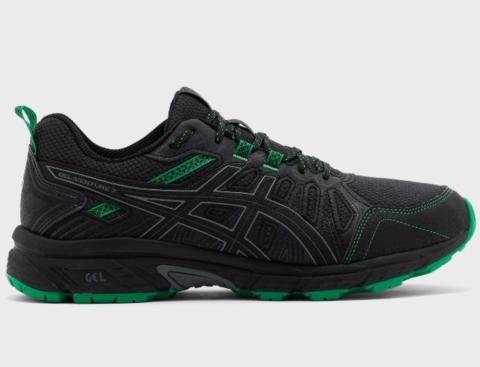 Asics Gel Venture 7 кроссовки-внедорожники для бега мужские черные-зеленые