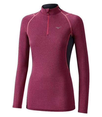 Mizuno Wool Hz термобелье рубашка женская розовая
