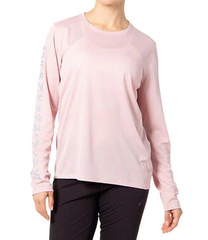 Asics Katakana Ls футболка с длинным рукавом женская розовая