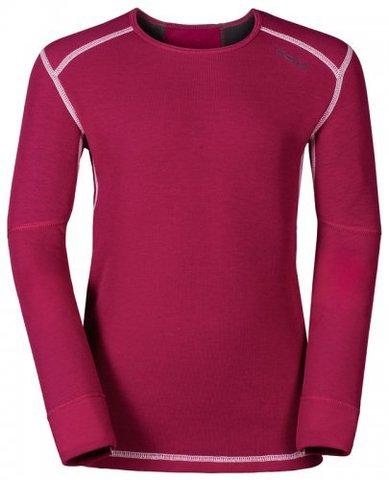 Odlo X-Warm детская термофутболка с длинным рукавом темно-розовая