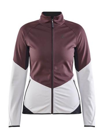 Craft Glide XC лыжная куртка женская белая-бордовая