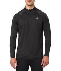 Asics Icon 1/2 Zip LS мужская рубашка для бега черная