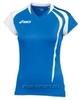 Asics T-Shirt Fanny Lady футболка волейбольная женская синяя - 1