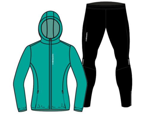Nordski Run Premium беговой костюм женский Dark Breeze-Black
