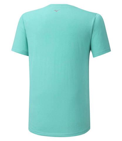 Mizuno Runbird Tee беговая футболка мужская голубая
