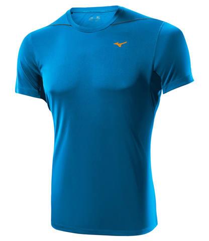 Беговая футболка мужская Mizuno DryLite Core Tee синяя