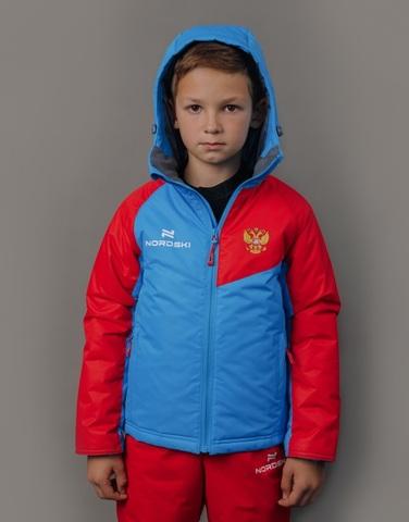 Nordski Jr National 2.0 утепленный лыжный костюм детский red