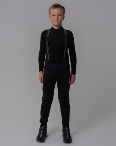 Nordski Jr Premium разминочные лыжные брюки детские черные