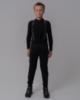Nordski Jr Premium разминочные лыжные брюки детские черные - 2