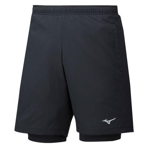 Mizuno Impulse 7.5 2 In 1 Short шорты для бега мужские черные