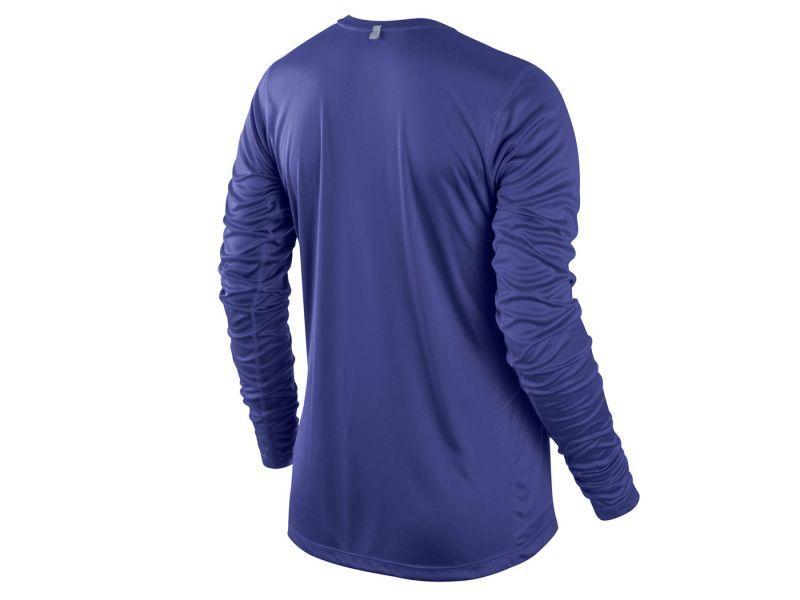 Футболка Nike Miler LS UV Top (W) /Рубашка беговая синяя - 2