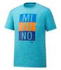 Mizuno Impulse Core Blocks Tee футболка для бега мужская голубая - 1