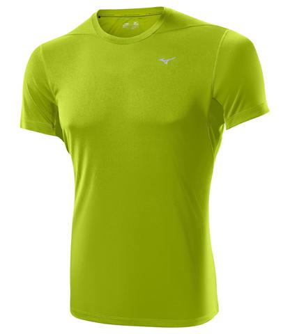 Беговая футболка мужская Mizuno DryLite Core Tee зеленая