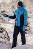 Теплый лыжный костюм мужской Nordski Base синий-темно-синий - 2