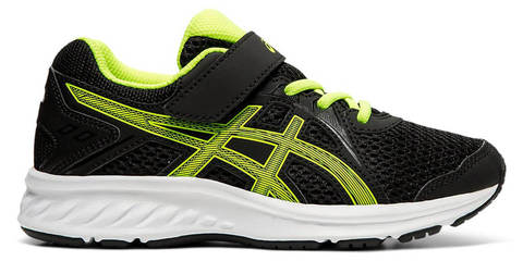 Asics Jolt 2 Ps кроссовки для бега детские черные-зеленые