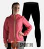 Nordski Run Premium беговой костюм женский Pink-Black - 1