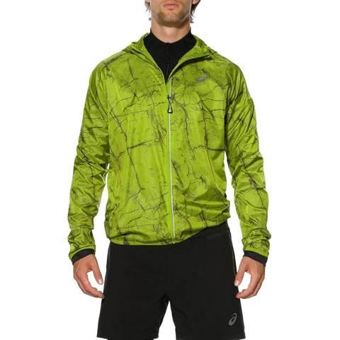 Asics FujiTrail Pack ветровка мужская зеленая