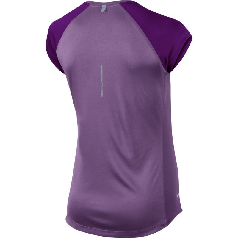 Футболка Nike Miler SS V-Neck Top (WOMEN) фиолетовая - 2