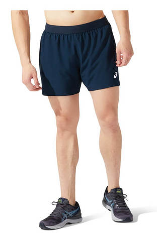 "Asics 2 In 1 5"" Short шорты для бега мужские темно-синие"