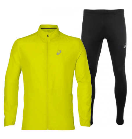 Asics Running Silver костюм для бега мужской желтый