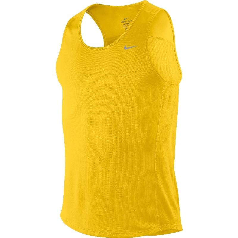 Майка л/а Nike Miler Singlet жёлтая