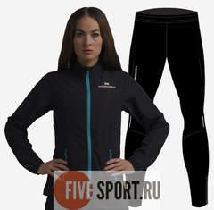 Nordski Motion Premium беговой костюм женский Black-Blue