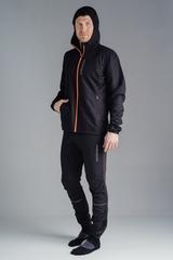 Nordski Jr Run костюм для бега детский черно-оранжевый