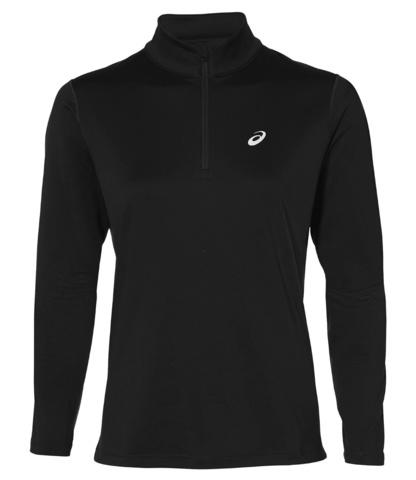 Asics Silver Ls 1/2 Zip Winter женская беговая рубашка черная