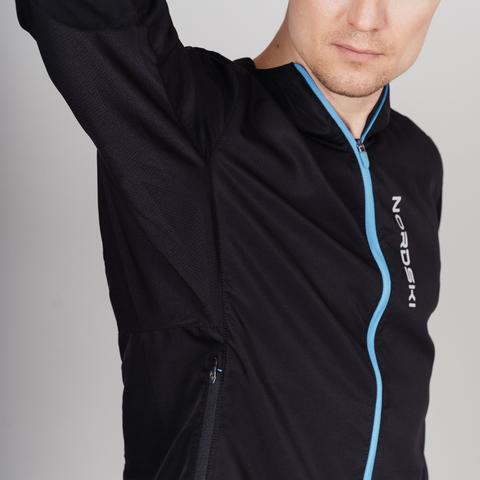 Nordski Run куртка для бега мужская Black-Blue