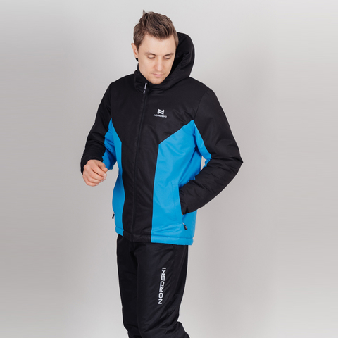 Nordski Base теплый костюм мужской black-blue