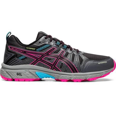 Asics Gel Venture 7 Wp кроссовки-внедорожники для бега женские черные-розовые