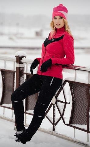 Утепленный лыжный костюм женский Nordski Base Premium pink