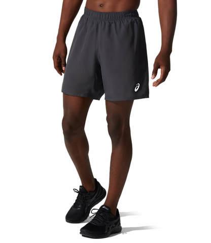 "Asics Core 2 In 1 7"" Short шорты для бега мужские серые"