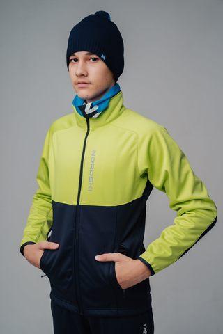 Nordski Jr Premium лыжная куртка детская green-blueberry