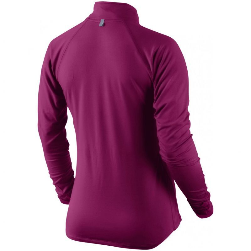 Футболка Nike Element 1/2 ZIP (W) /Рубашка беговая фиолетовая - 2