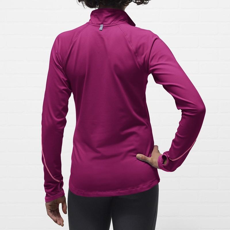 Футболка Nike Element 1/2 ZIP (W) /Рубашка беговая фиолетовая - 4
