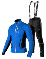 Victory Code Speed Up разминочный лыжный костюм с лямками blue