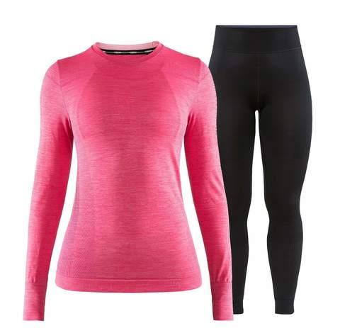 Craft Fuseknit Comfort комплект термобелья женский pink-black