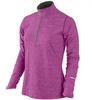 Футболка Nike Element 1/2 ZIP (W) /Рубашка беговая сиреневая - 1