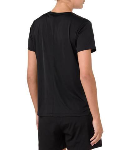 Asics Silver Ss футболка для бега женская черная